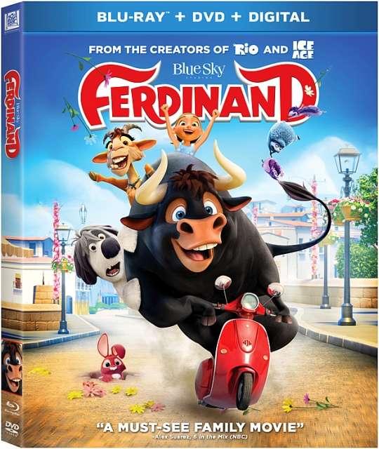Bulius Ferdinandas / Ferdinand (2017) [BDRip LT] animacija, nuotykiai, šeimai