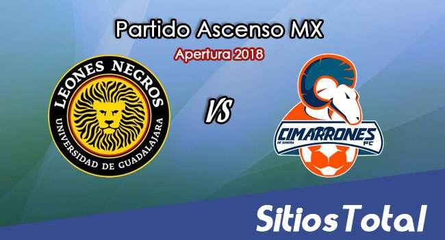 Ver Leones Negros vs Cimarrones de Sonora en Vivo – Ascenso MX en su Torneo de Apertura 2018