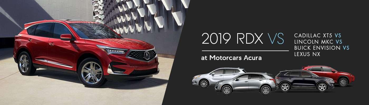 2019 Acura RDX vs. Cadillac XT5 vs Lincoln MKC vs Buick Envision vs Lexus NX