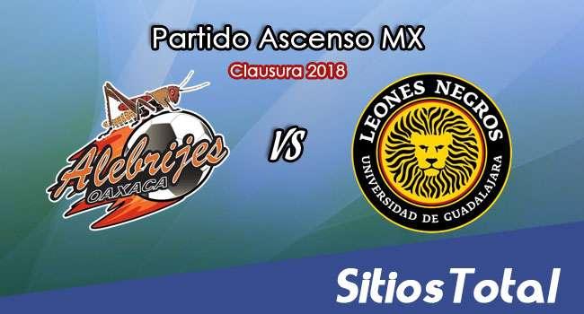 Alebrijes de Oaxaca vs Leones Negros en Vivo – Ascenso MX – Sábado 3 de Febrero del 2018