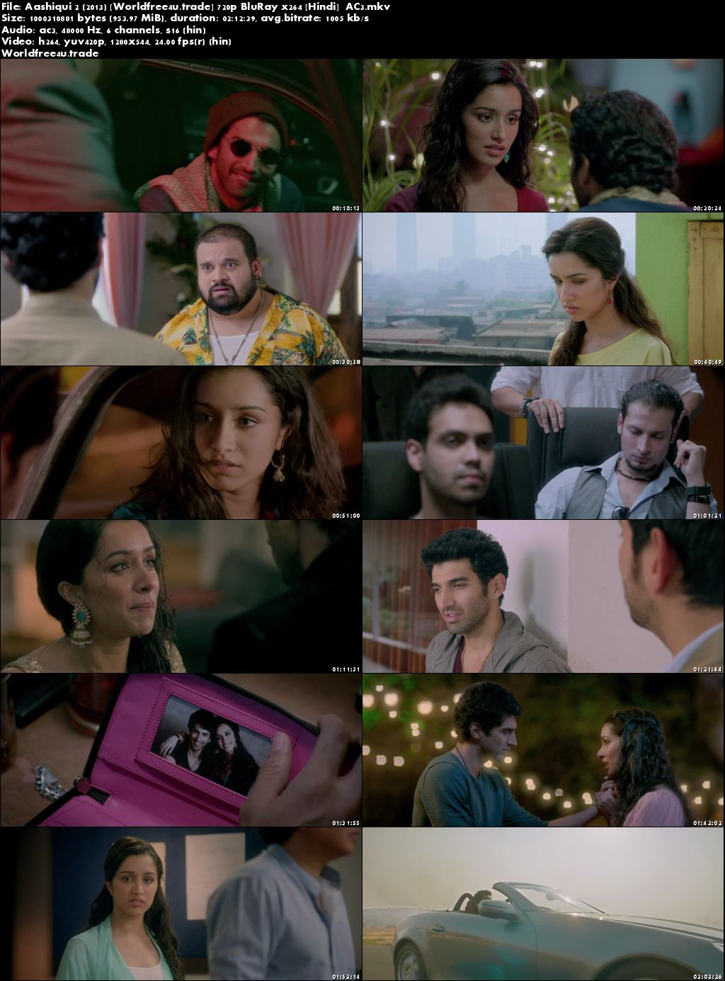 Screen shots Aashiqui 2 (2011) Full HD Movie Download Blue-ray 1080p