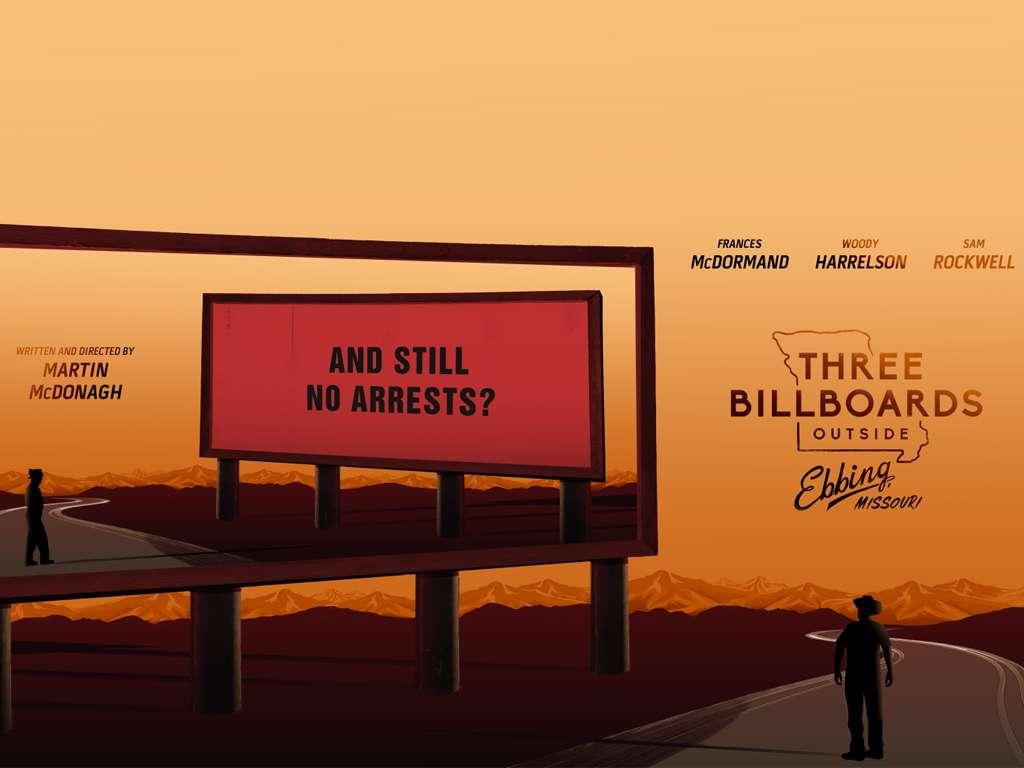 Οι Τρεις Πινακίδες Έξω Από το Έμπινγκ, Στο Μιζούρι (Three Billboards Outside Ebbing, Missouri) Quad Poster Πόστερ