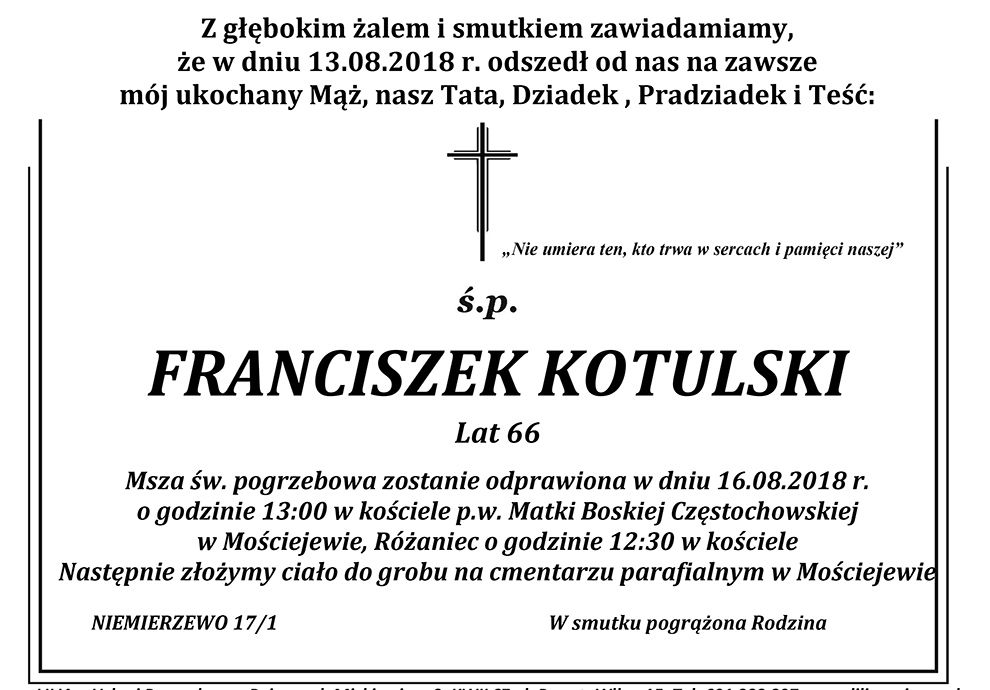 Żyli wśród nas – Franciszek Kotulski