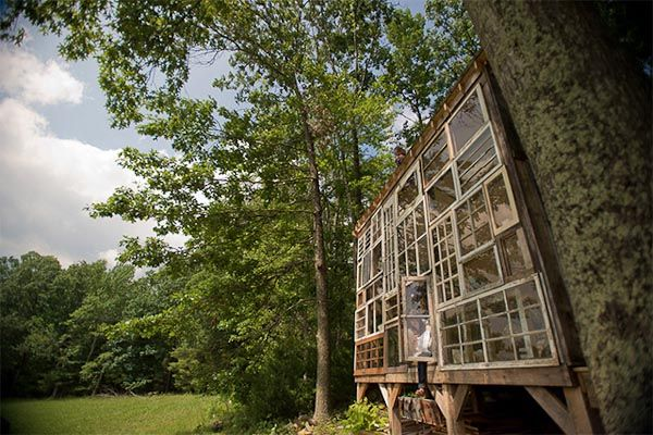 Cabin made from windows (West Virginia)