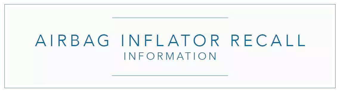 Honda Airbag Inflator Recall Info