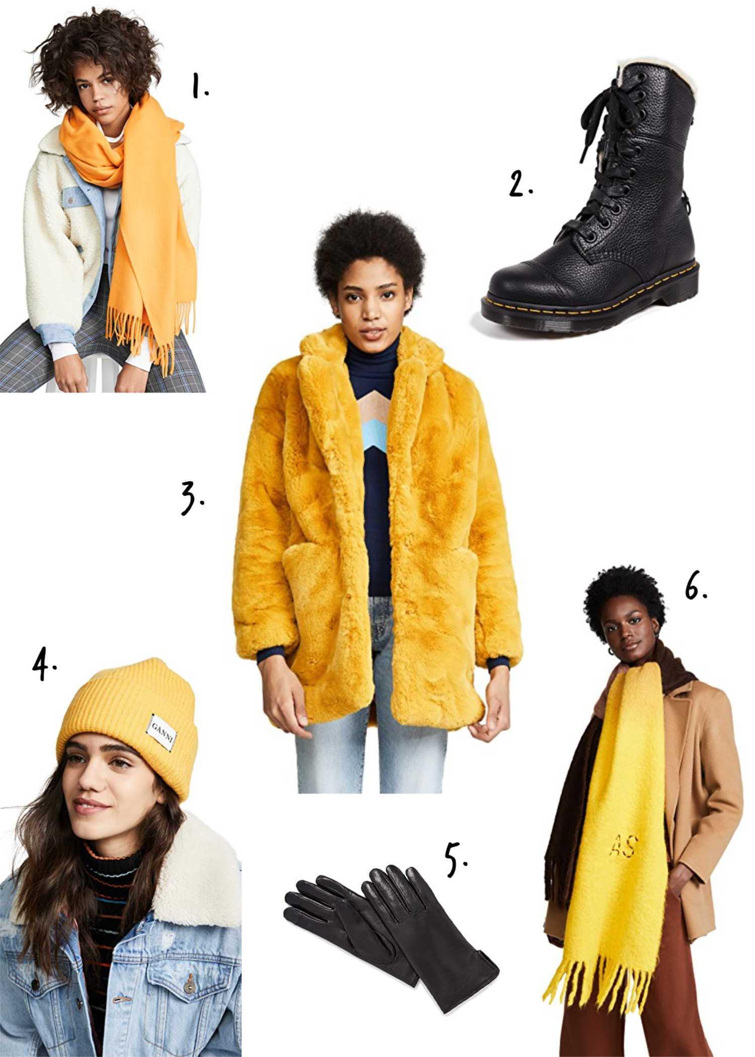 Shopbop Yellow Winter Essentials