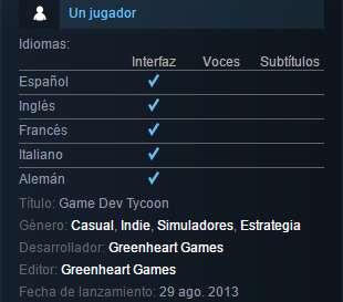 descargar game dev tycoon full español ultima version pc