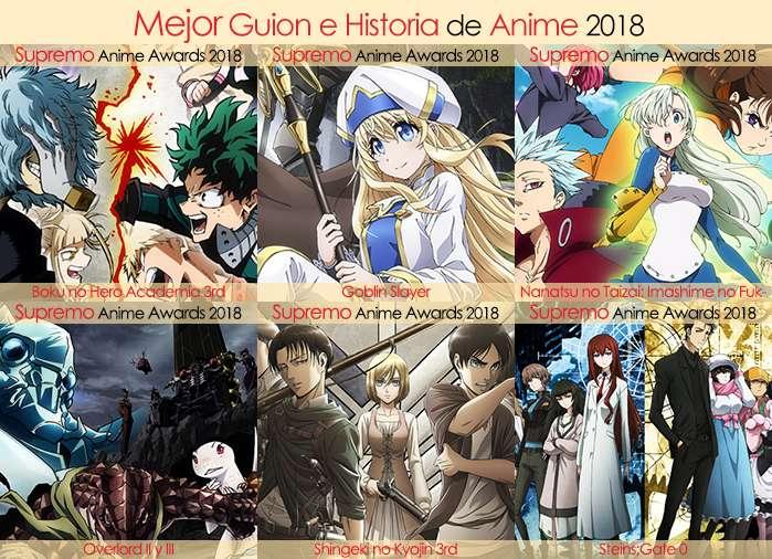 Final X Categorias Nominados a Mejor Guion e Historia de Anime 2018
