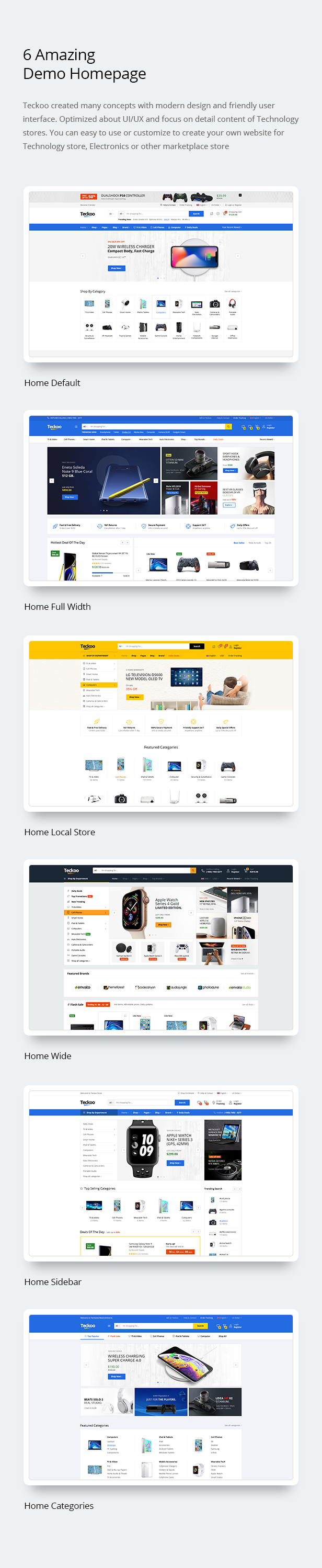Teckoo - Electronic & Technology Marketplace eCommerce PSD Template - 5