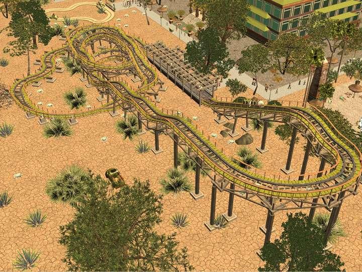 My Downloads - Parks and Coasters - Coaster: Kiddie Woodie - Demo Screenshot, Image 01