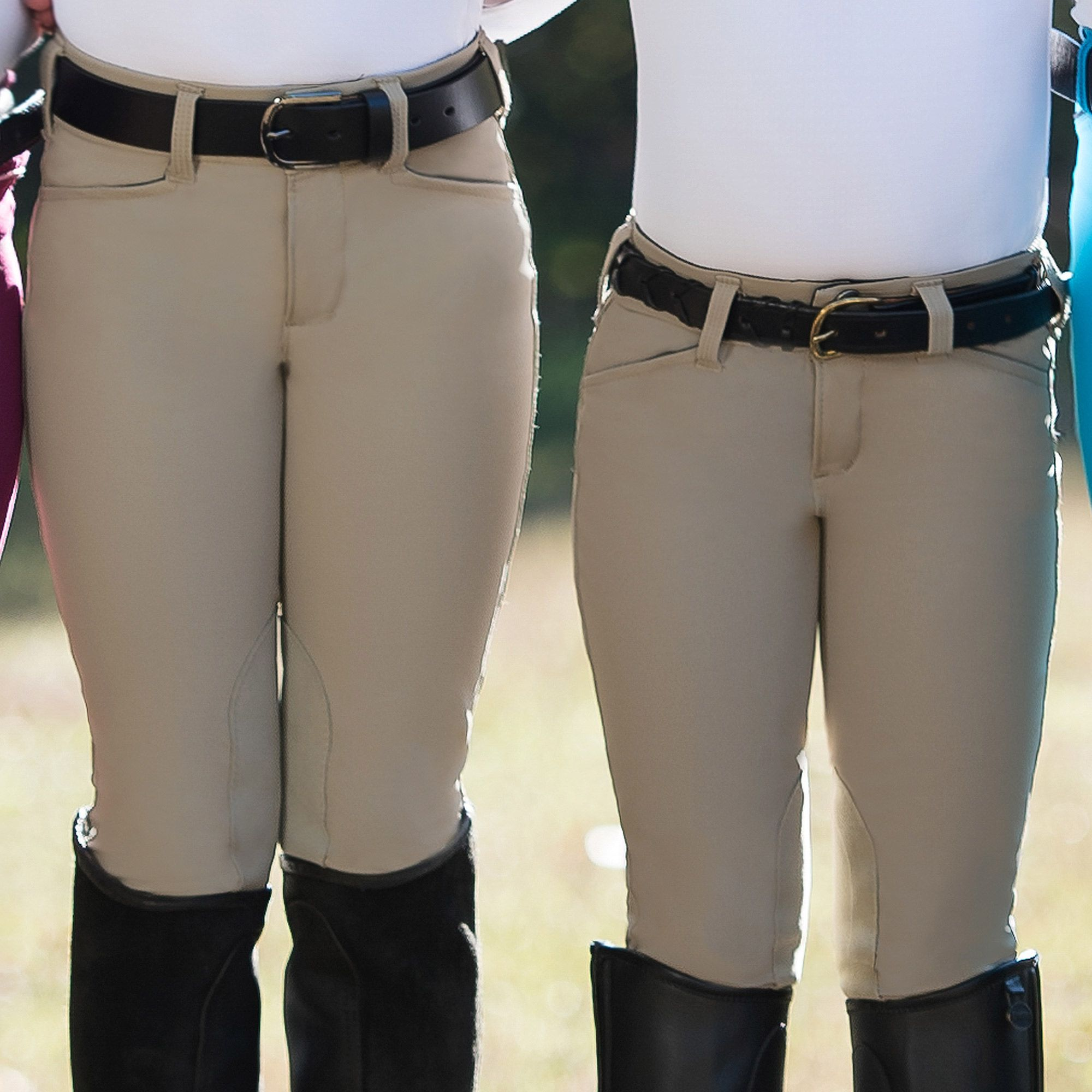 Irideon-Children-039-s-Hampshire-Knee-Patch-Riding-Breeches-with-Euro-Seat-Styling miniature 12