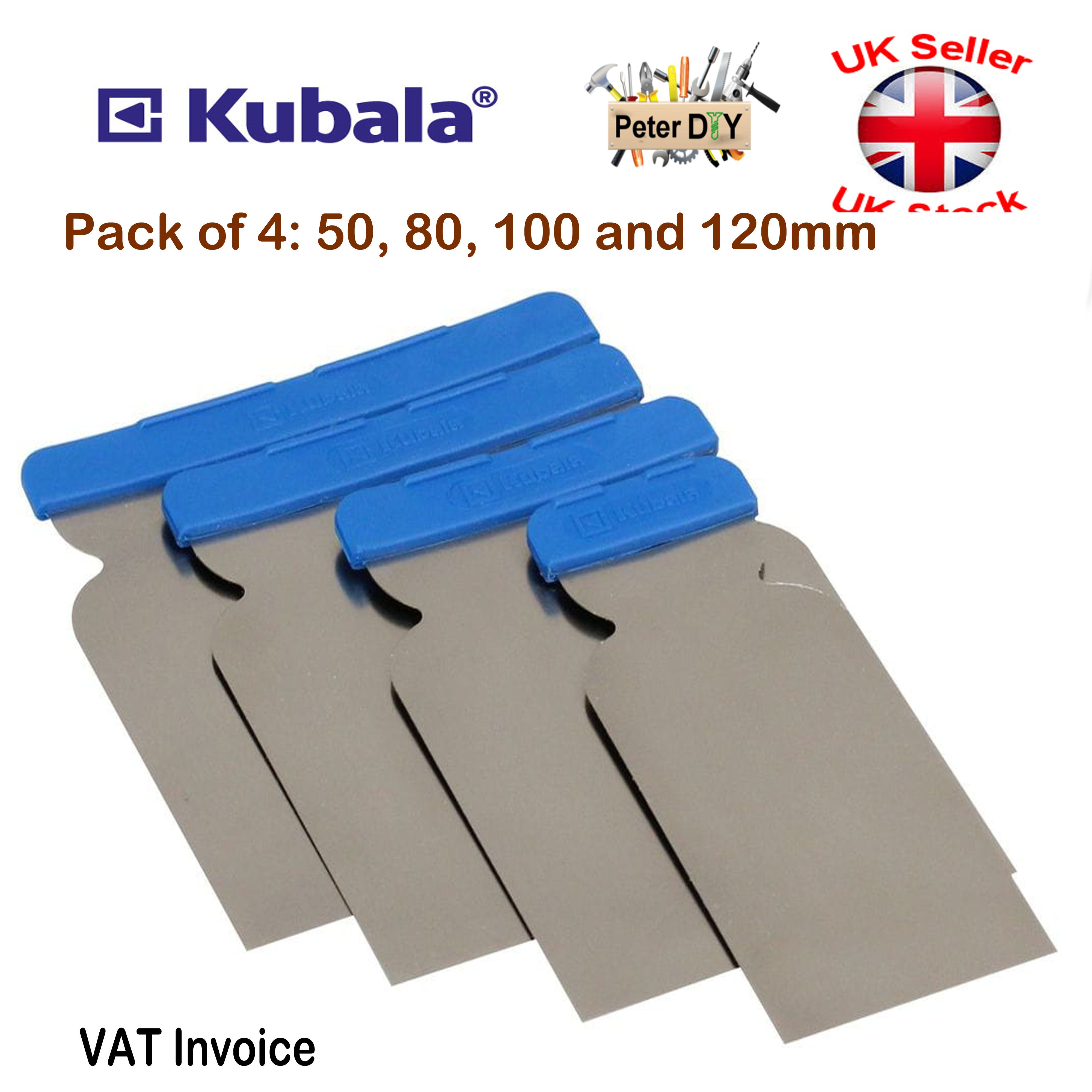 Stainless Steel PUTTY SPATULA Scraper//Crack Filler//Plaster//Drywall Hand Tool