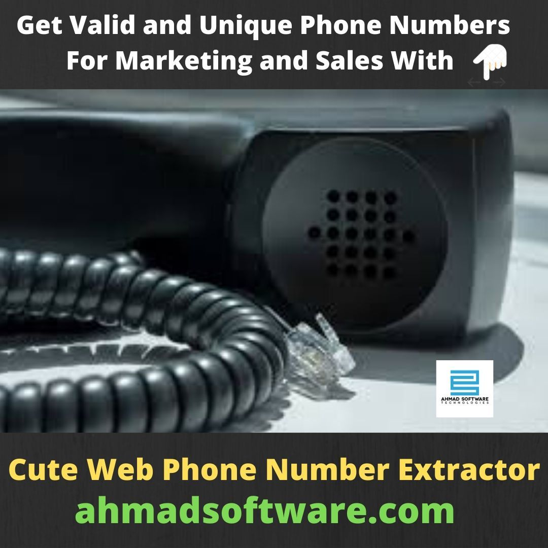 Phone Number Extractor Software is the most dynamic and popular tool for extracting phone, fax, and mobile numbers through the use of internet search engine technologies such as Google, Bing, Ask and Yahoo as well as websites and URLs