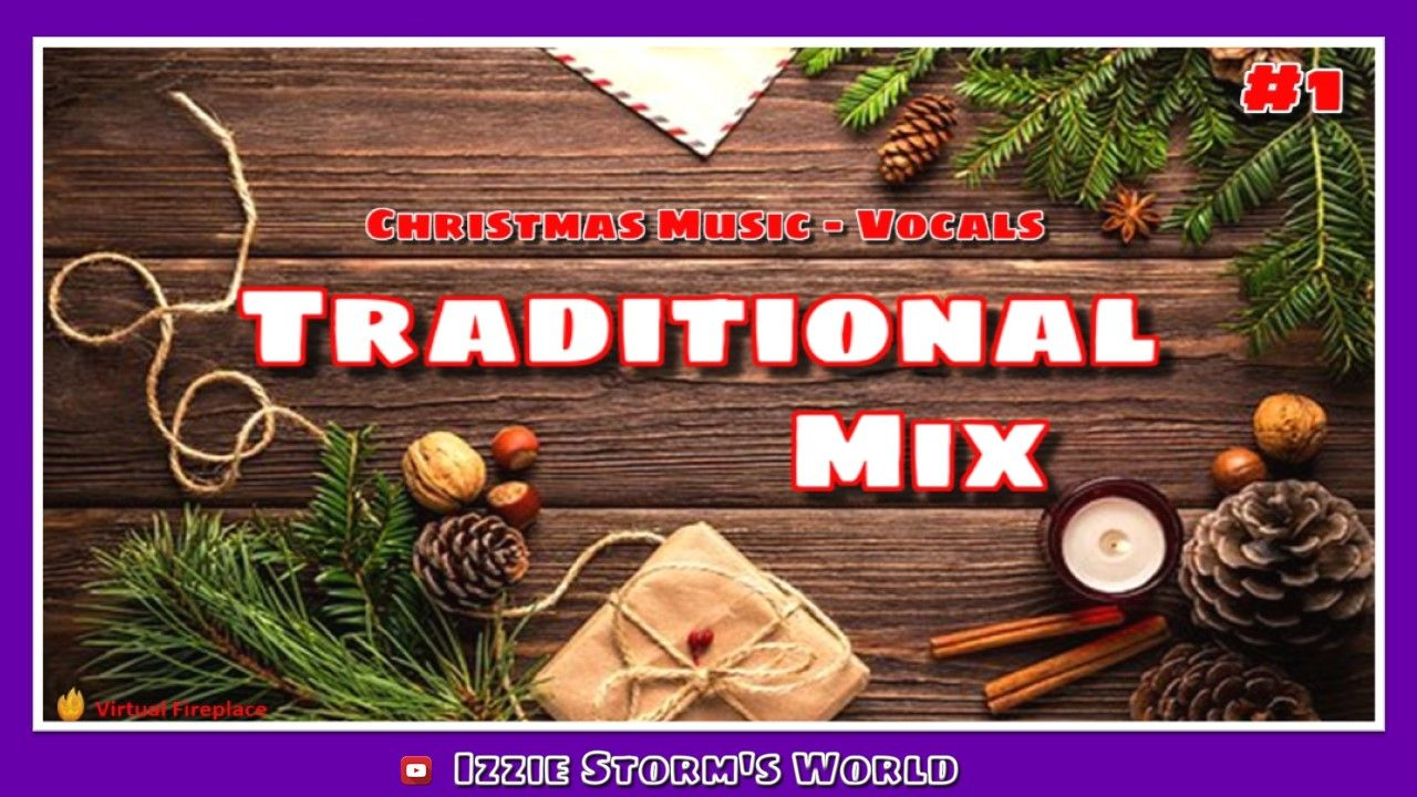 🎄Traditional Christmas Holiday Music Mix #1 (Vocals) | Virtual Fireplace