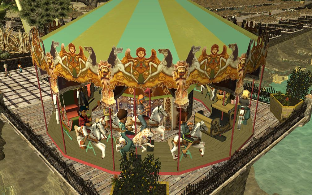 My Projects - TexMod Customized Add-Ins, MakeOvers for My Park - Patrick's Merry-Go-Round, B, Image 11