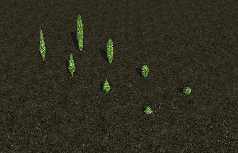 My Projects - CSO's I Have Imported, Garden Hedges - Screenshot Displaying A Small Assortment of Ground Topiary, Image 08