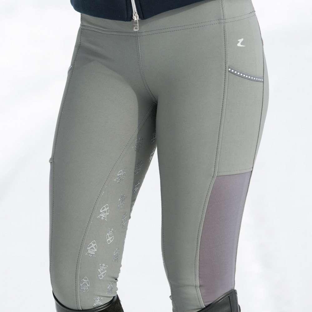 Horze-Leah-Women-039-s-Windproof-All-Season-Riding-Tights-Mid-Rise-Waist thumbnail 21