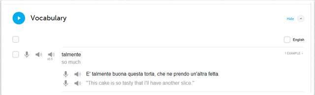 ItalianPod101 Vocabulary