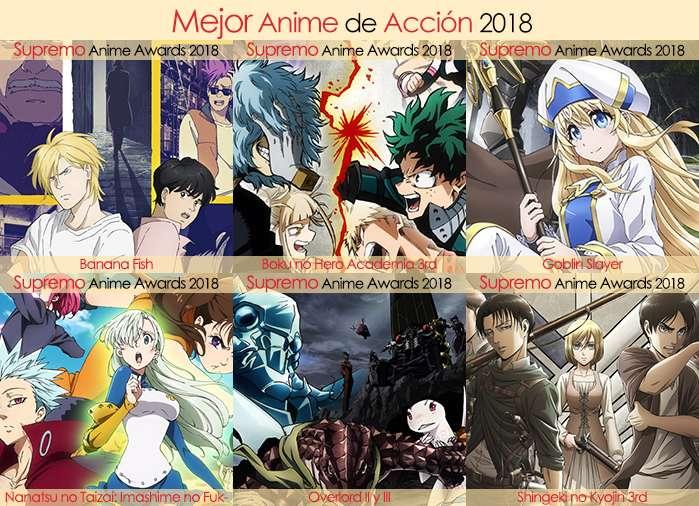 Final X Categorias Nominados a Mejor Anime de Acción 2018