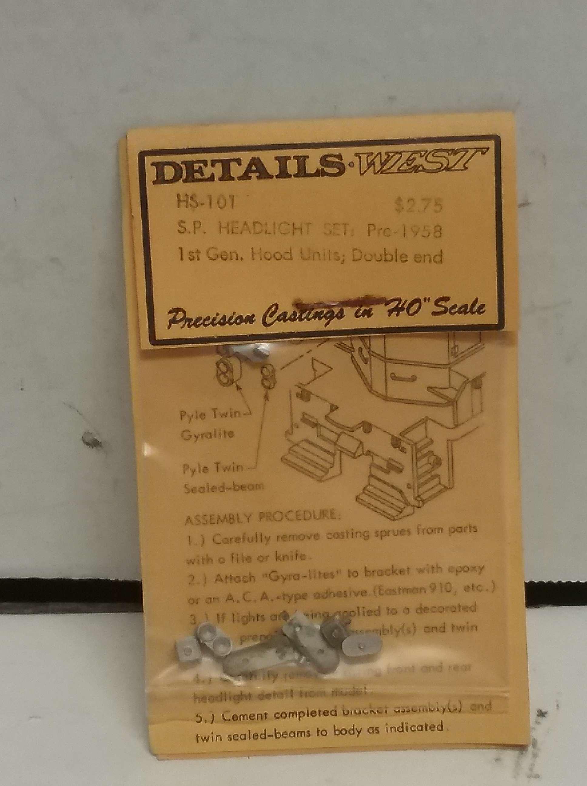 Details West HL-200 SP Nose Headlight HO Scale petzlife com