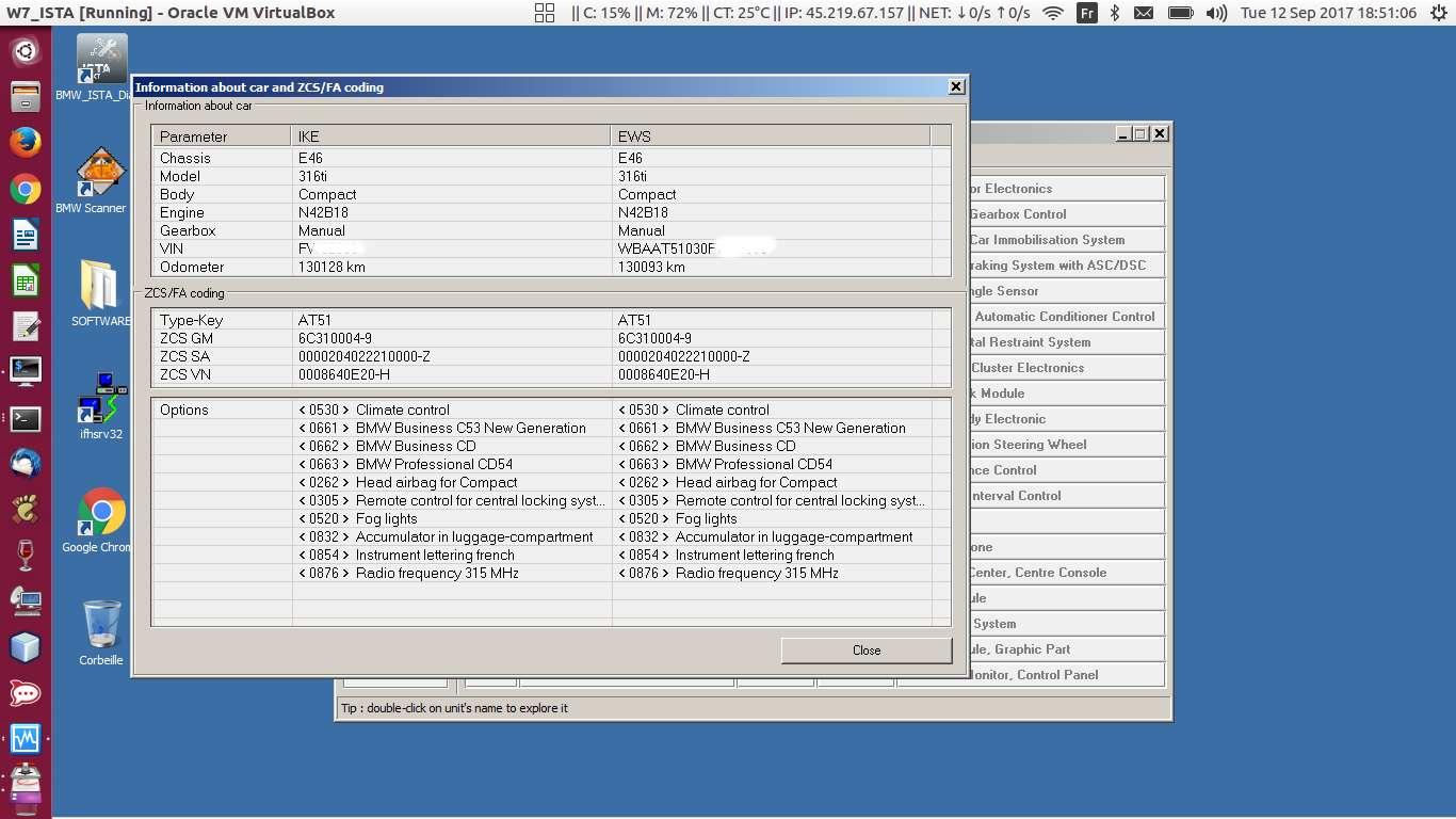 2001 E46 316ti - N42b18b ECU Update overwrote ECU Mileage
