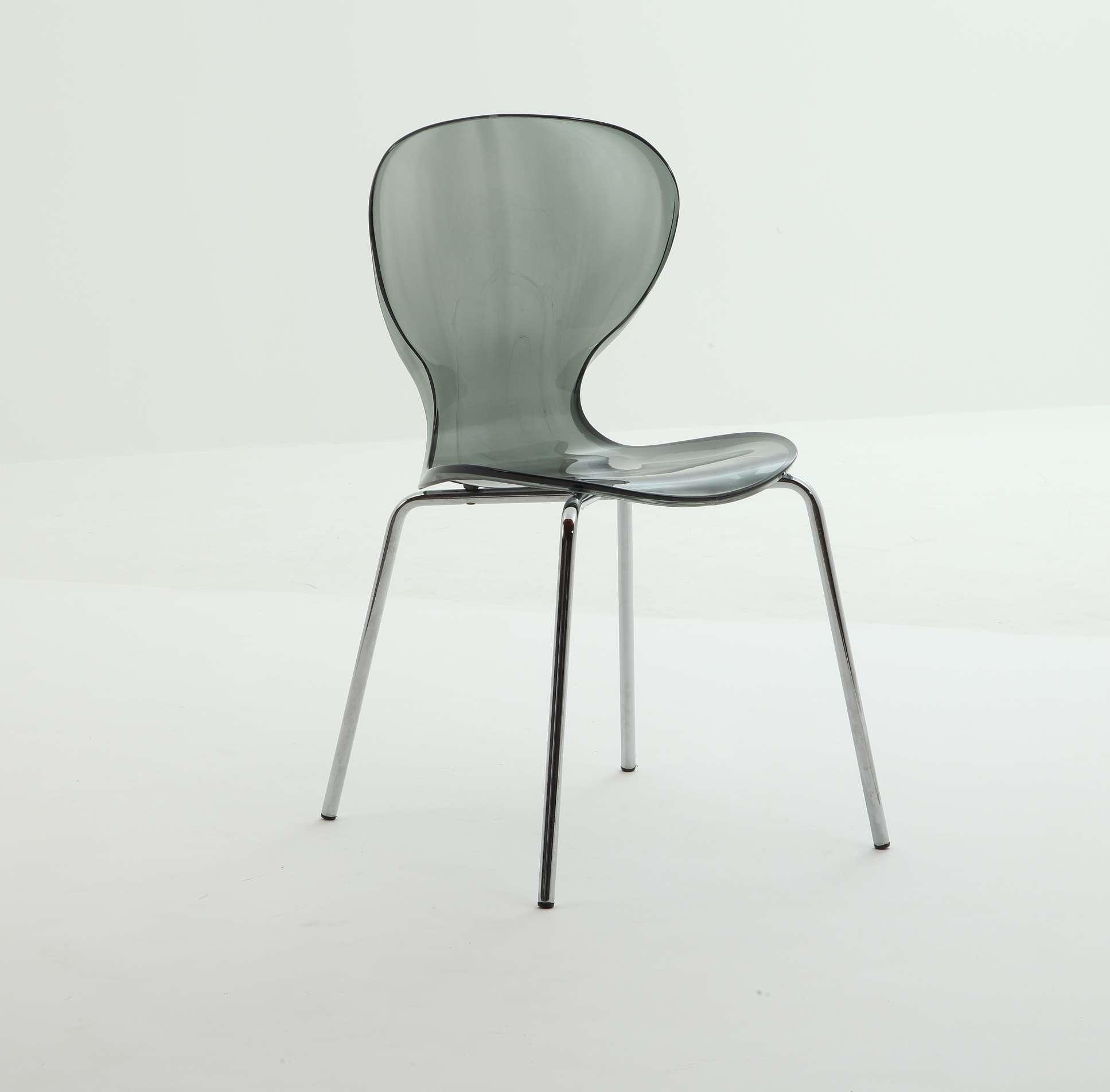 Set 4 sedie policarbonato trasparente sedia stile kartell for Sedia design kartell