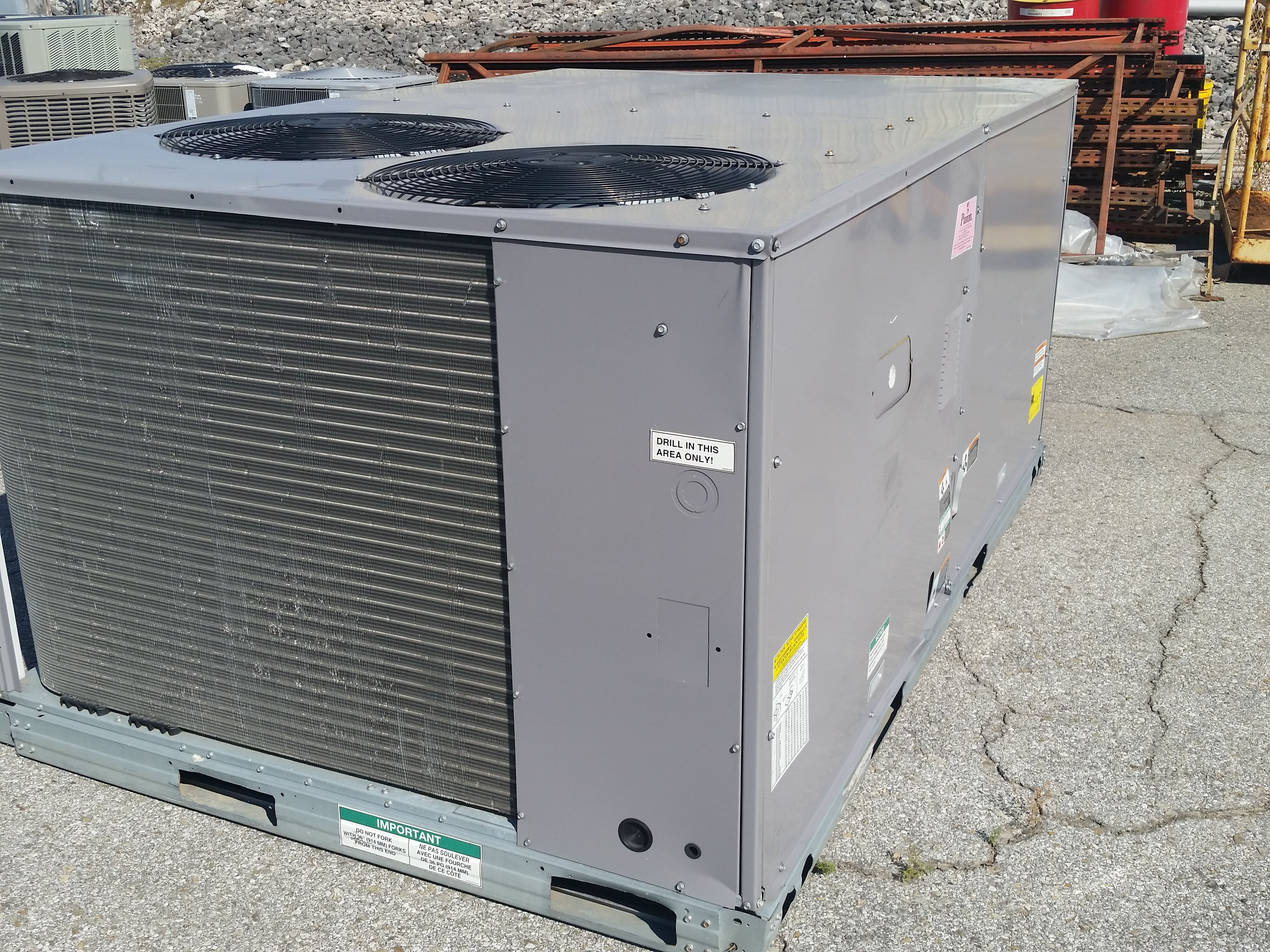 carrier commercial 7 5 ton gas heat electric cool package unit 460 volts 3 phase ebay. Black Bedroom Furniture Sets. Home Design Ideas