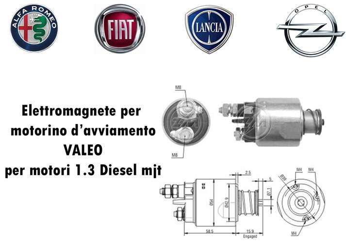 ELETTROMAGNETE MOTORI 1.3 DIESEL MJT FIAT-ALFA-LANCIA-OPEL PER VALEO 438168