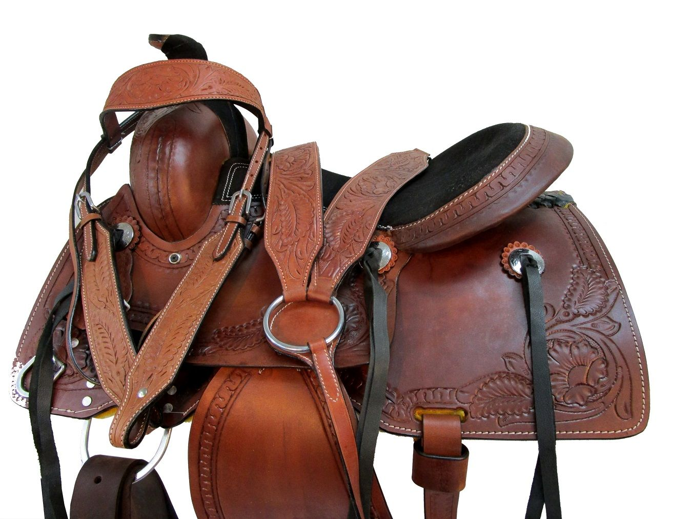 Arabian Horse Western Saddle 15 16 17 Pleasure Trail Snake Border Tooled Leather Ebay