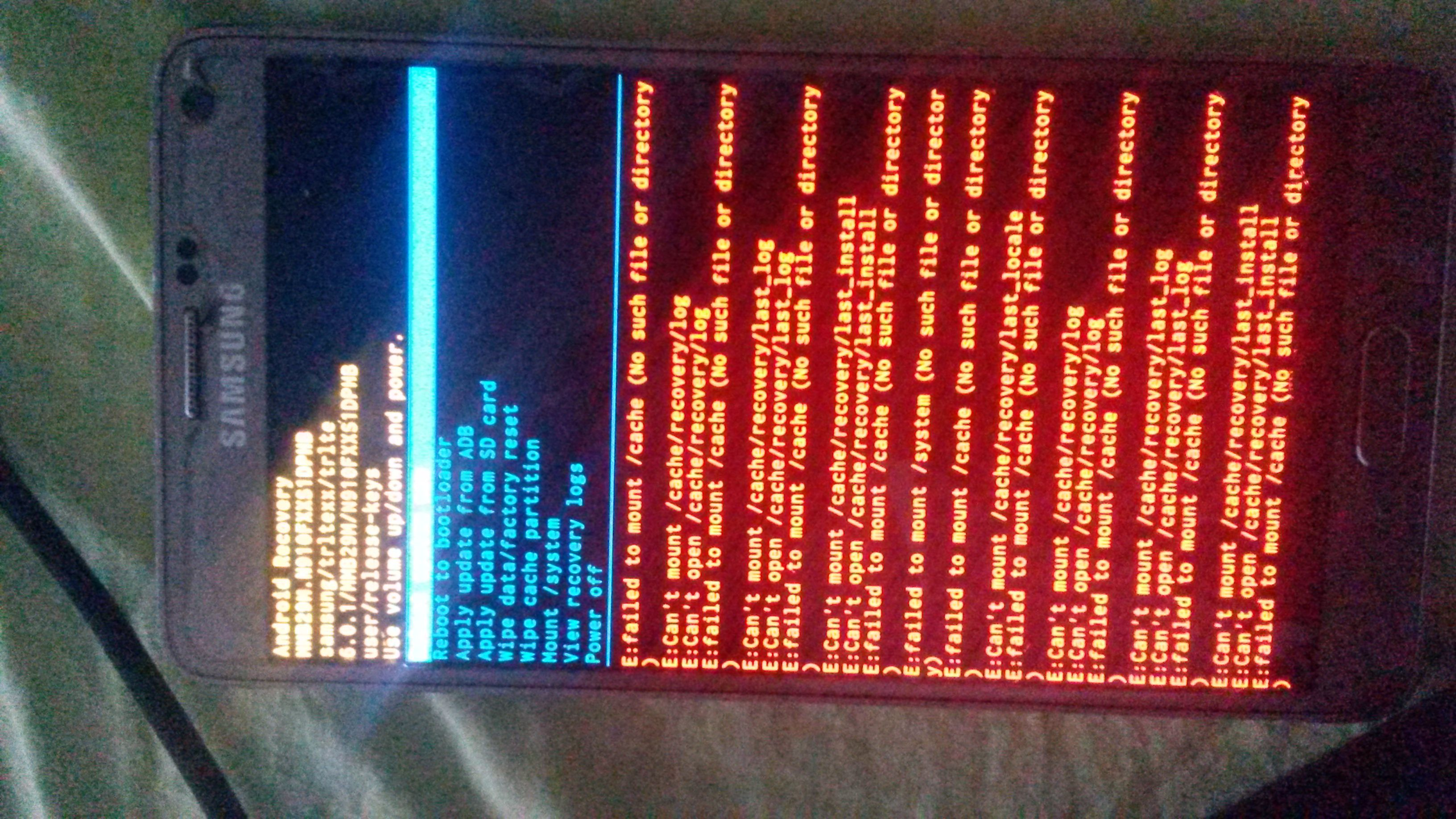 N910F software bricked  E:can't mount cache | Samsung Galaxy Note 4