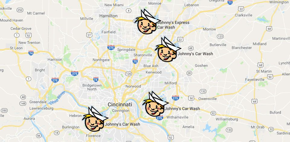 Johnny's Car Wash Map