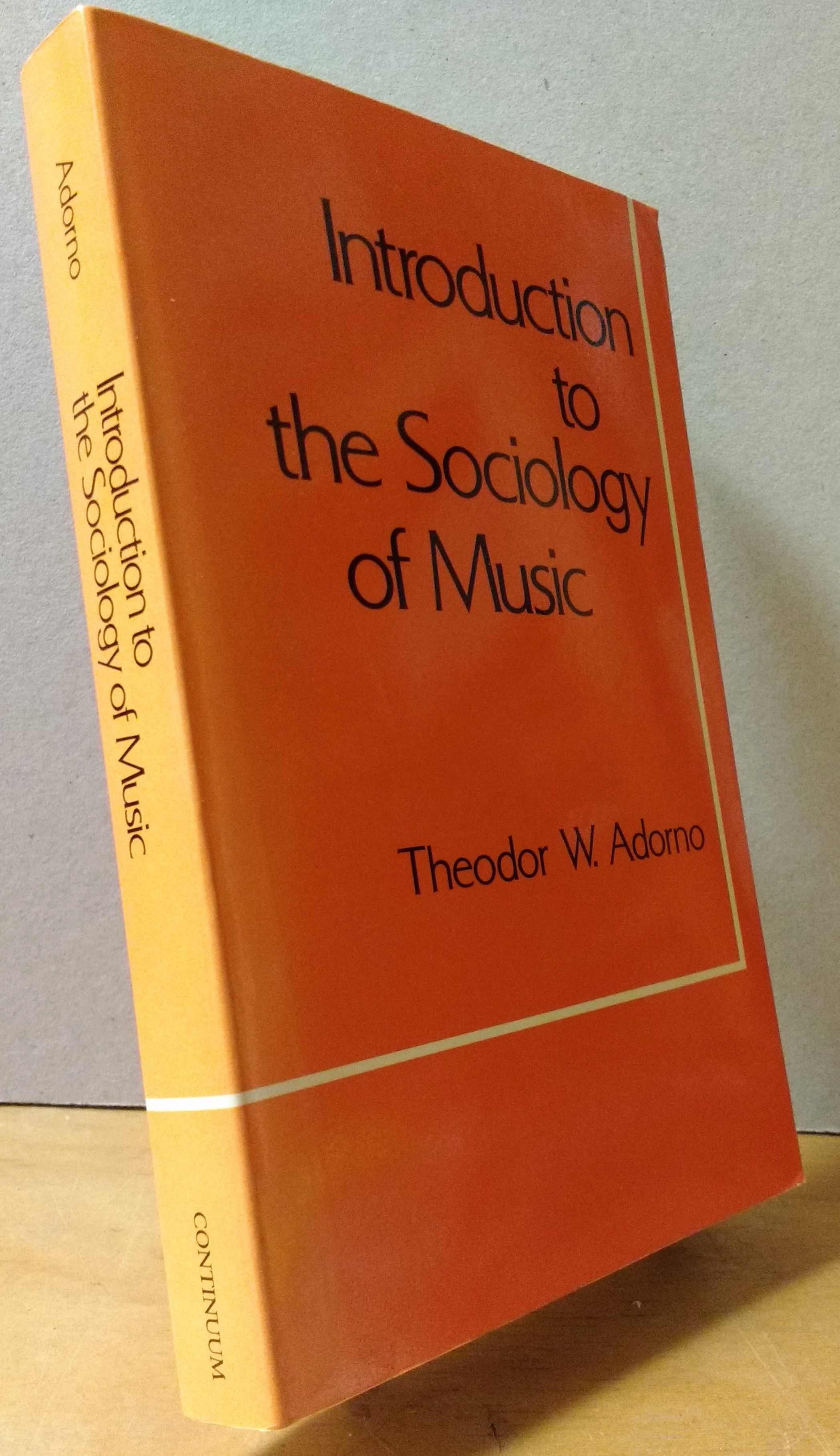 Image for Introduction to the Sociology of Music