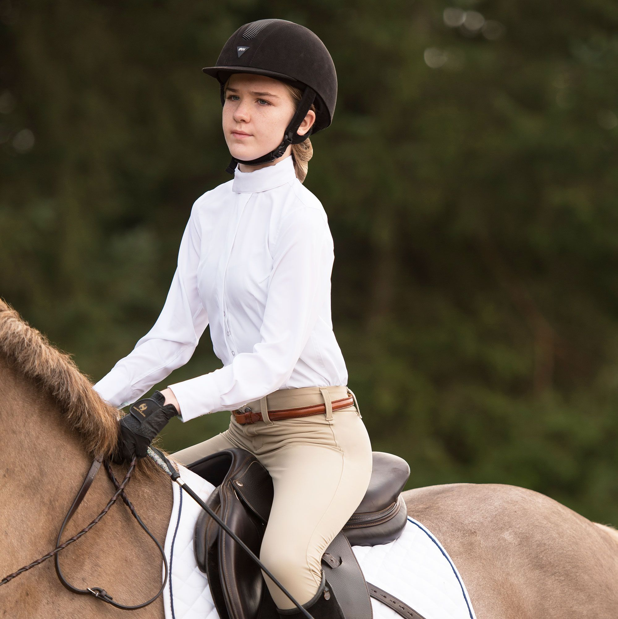 Irideon-Children-039-s-Hampshire-Knee-Patch-Riding-Breeches-with-Euro-Seat-Styling miniature 11