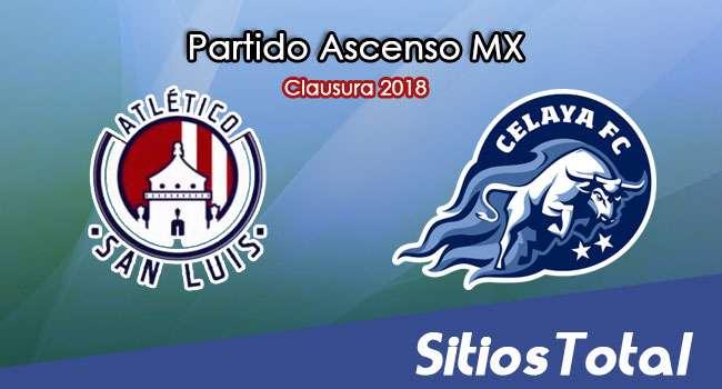 Atlético San Luis vs Celaya en Vivo – Ascenso MX – Viernes 16 de Febrero del 2018