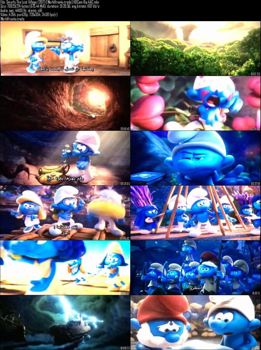 Screen Shots Smurfs The Lost Village (2017) Full Movie Download Dual Audio Hindi
