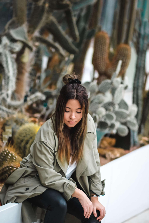 the green ananas, trench kaki, trench femme, zara, jardin des plantes, blog, blogueuse mode, french blogger, pinterest, blogueuse influente, bottines clous, asos, boohoo, khaki trench coat