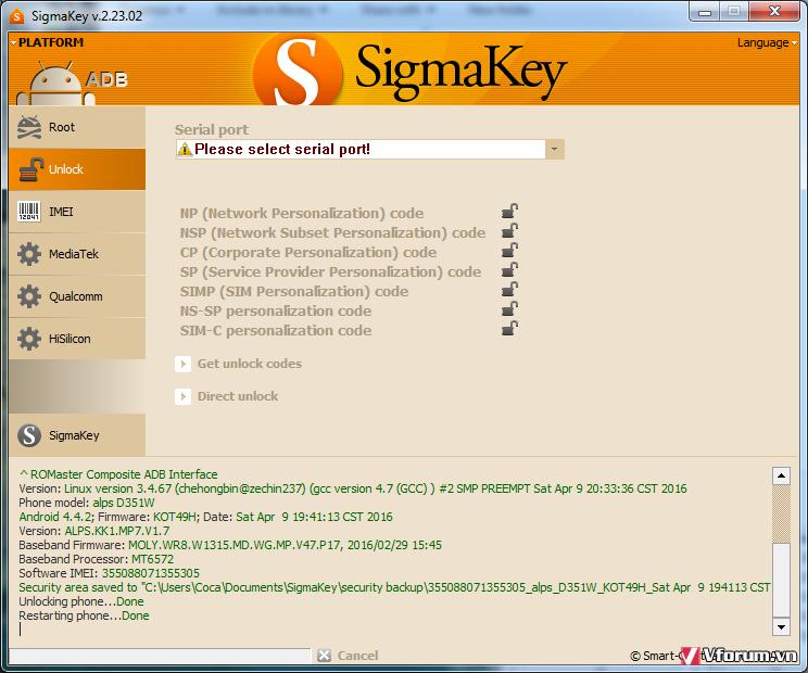 Truconnect D351w Unlock ok by Sigma | VietFones Forum