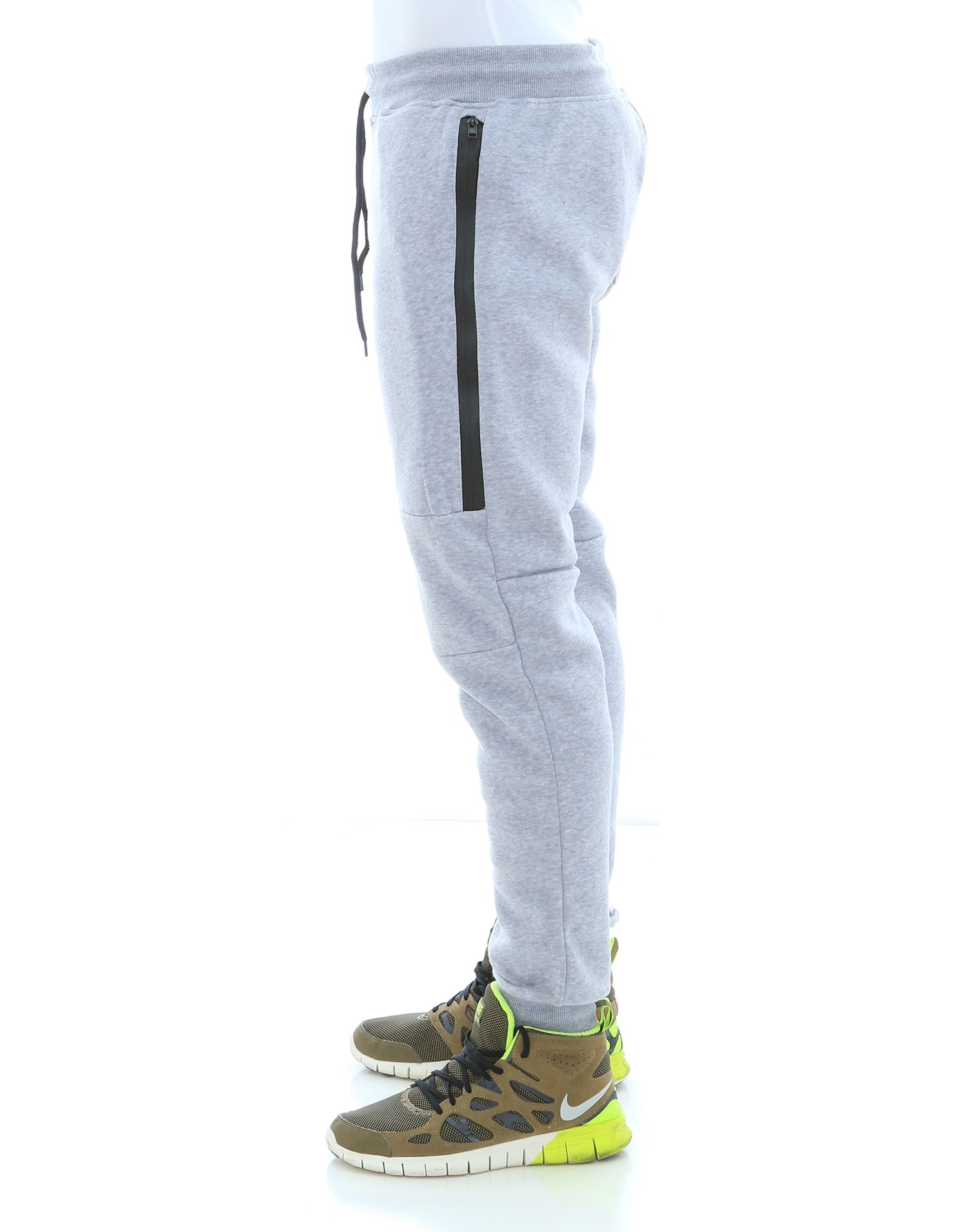 WT02-Men-039-s-Fleece-Jogger-Sweatpants-With-Bonded-Zippers thumbnail 9