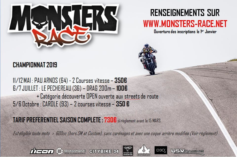 icon monsters race 2019