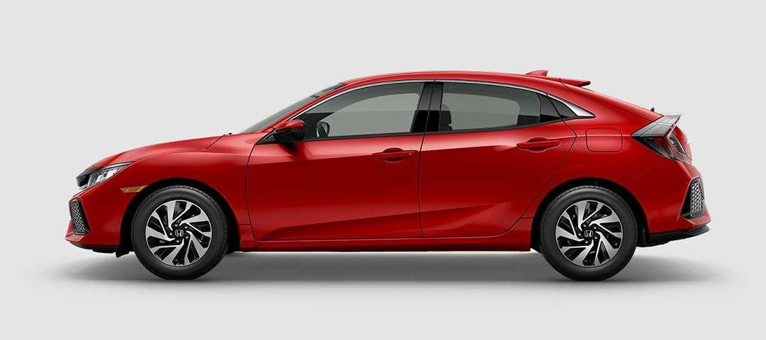 2018 Honda Civic Hatchback LX in Rallye Red