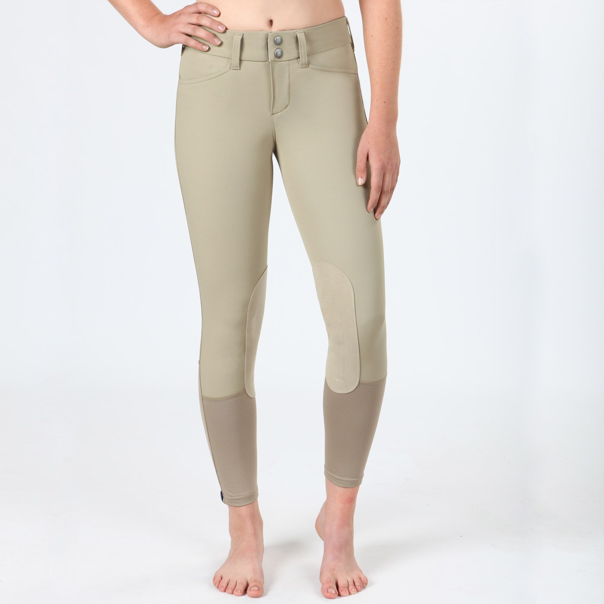 Irideon-Children-039-s-Hampshire-Knee-Patch-Riding-Breeches-with-Euro-Seat-Styling miniature 9
