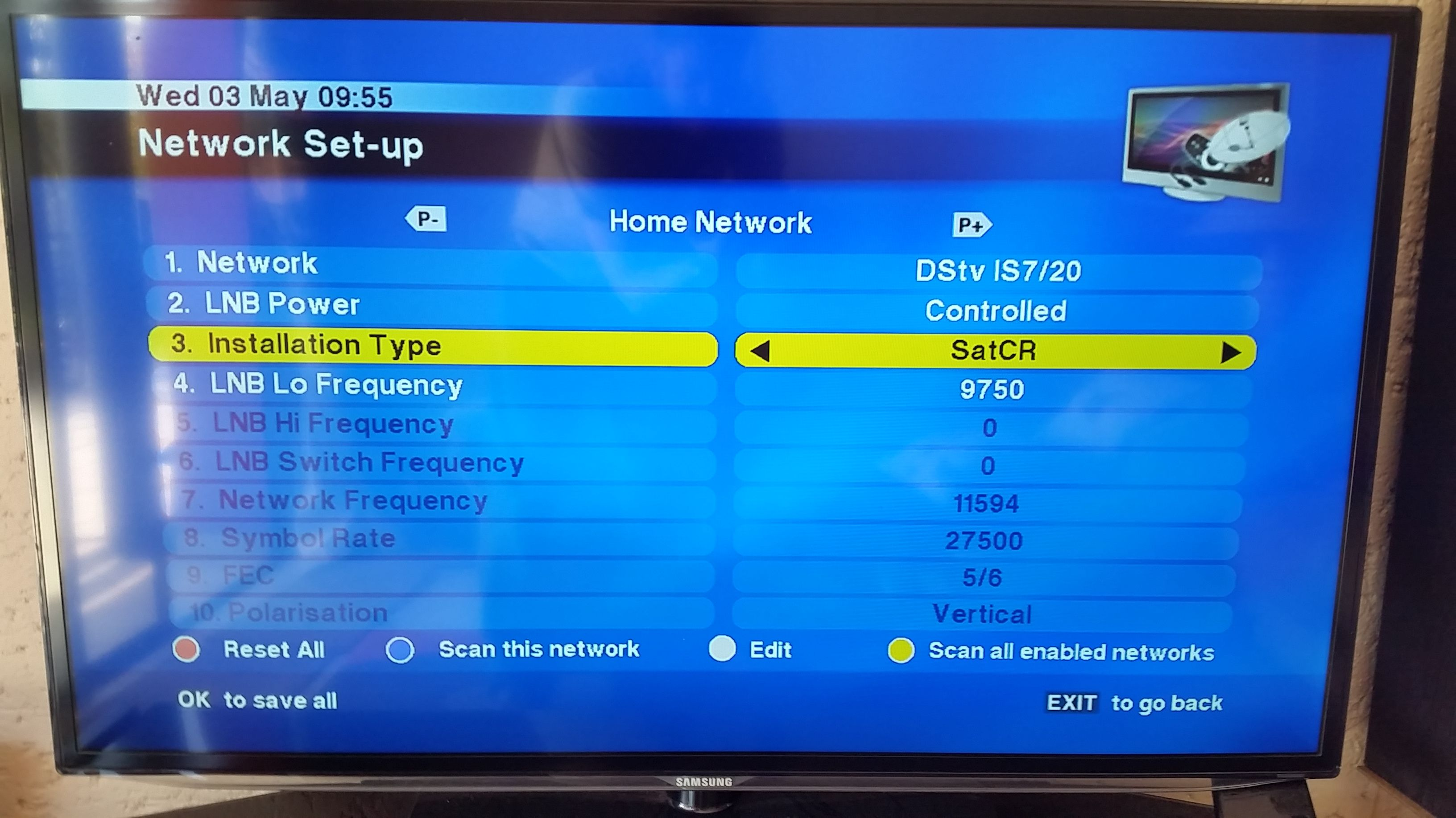 DSTV: Smart LNB + 2x HD PVR 2P's connection for ExtraView