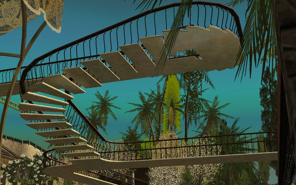 My Projects - CSO's I Have Imported, Pool Paths Set - View Looking Upwards at Base of Pool Paths Set Pieces, Image 07