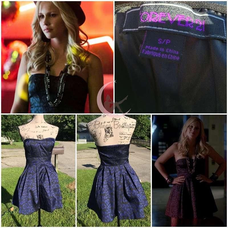 Aso Rebekah Mikaelson Forever 21 Jacquard Dress Sz S The Vampire