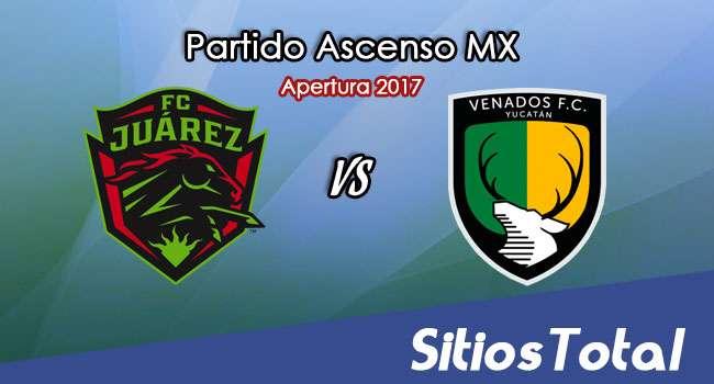 Ver FC Juarez vs Venados FC en Vivo – Online, Por TV, Radio en Linea, MxM – Apertura 2017 Ascenso MX