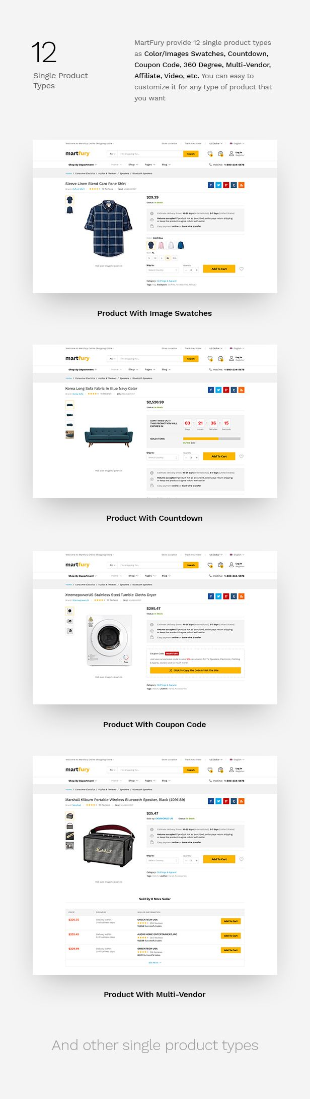 MartFury   Multi-Vendor & Marketplace eCommerce PSD Template - 20