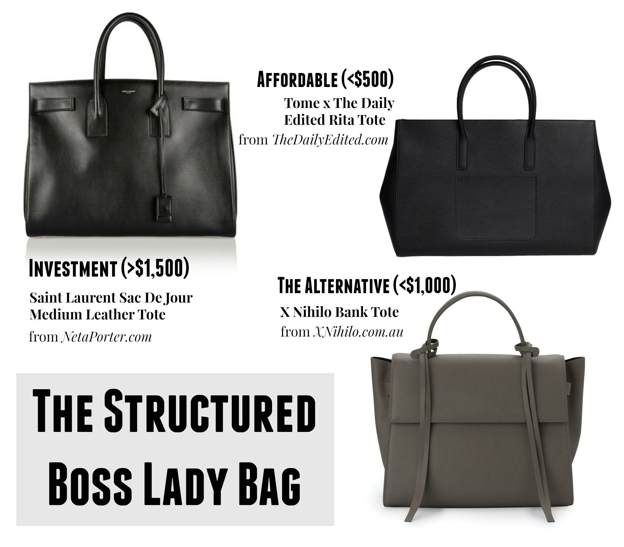 The Structured Boss Lady Bag