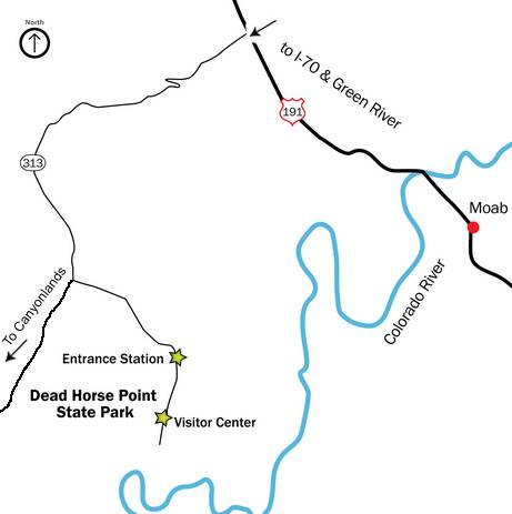 DEAD HORSE POINT MAPA