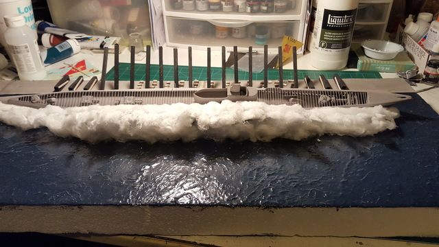 The launching of the USS Puffer (SS-268) diorama COMPLETE