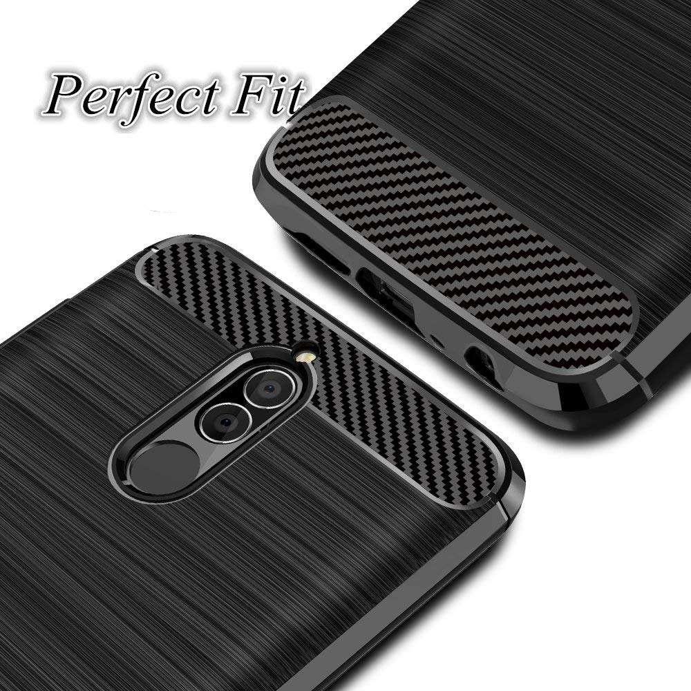 Coque-Etui-Housse-Silicone-brossee-Fibre-de-carbone-Noir-Protection-Huawei miniature 17
